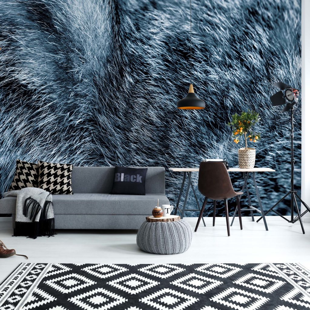 Wolf Fur Texture Blue(11074WM)