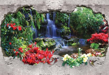 Waterfall Forest 3D Hole In Wall(2242WM)